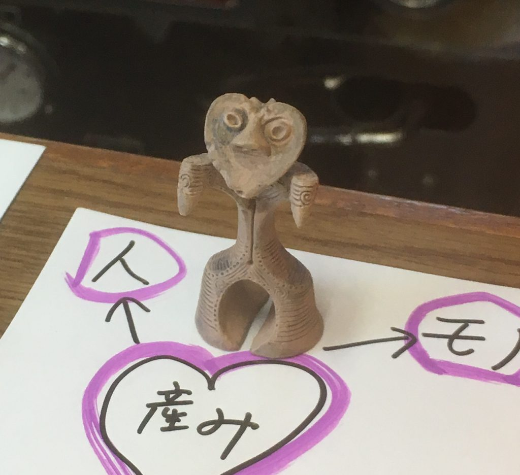 ハート型の土偶